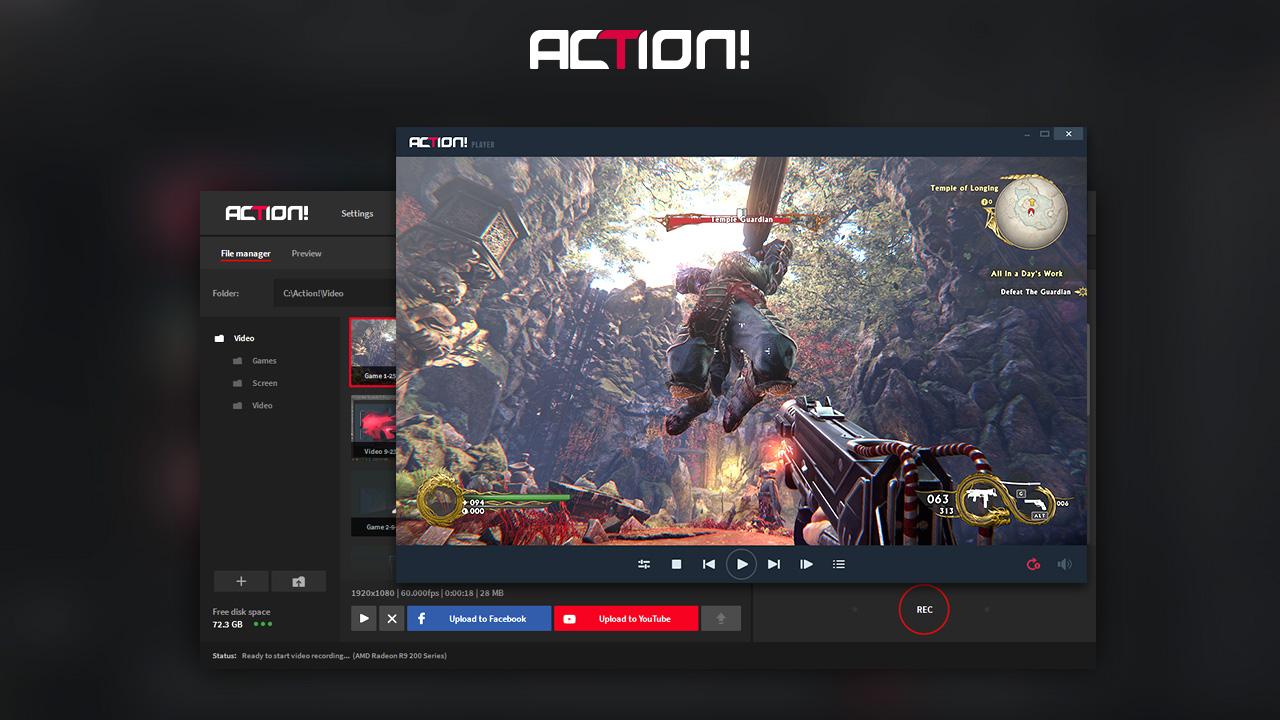 Action Free PC Game Recorder Setup